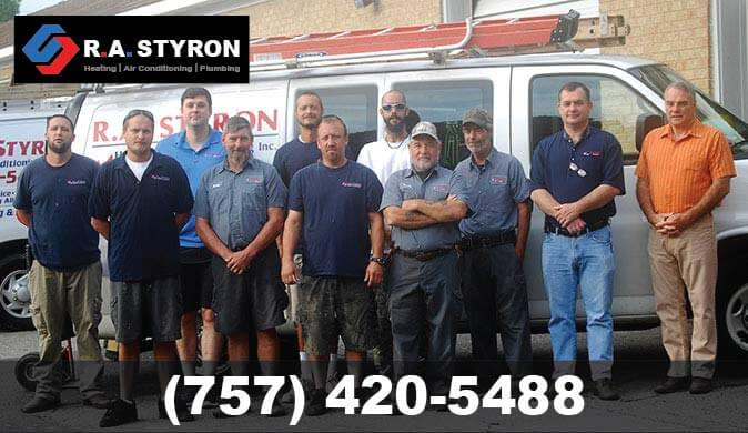 R.A. Styron Heating & Air Conditioning Team Photo