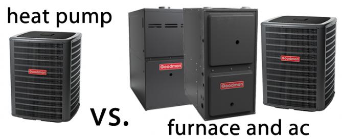 gas furnace vs heat pump