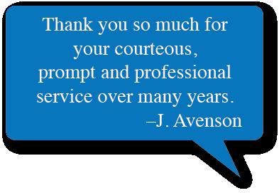 J. Avenson Testimonial