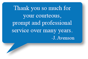J Avenson Testimonial